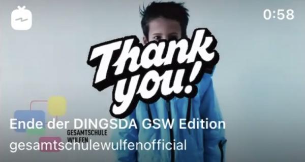 Vielen Dank! DINGSDA GSW Edition ist beendet